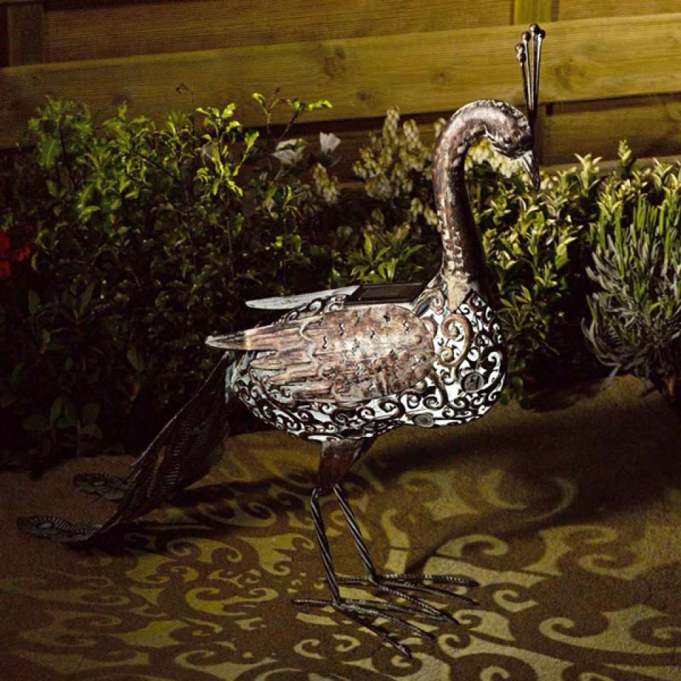 Solar Metal Peacock