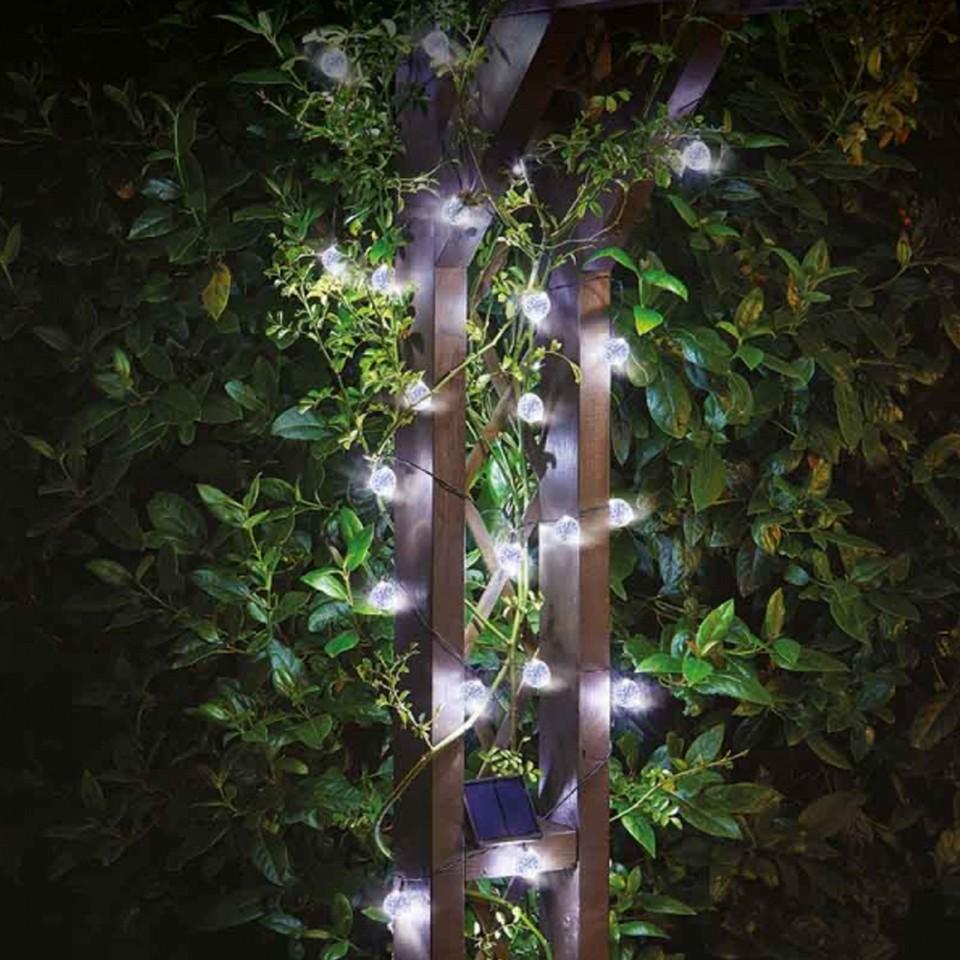 Solar Powered 25 Orb Fairy Lights