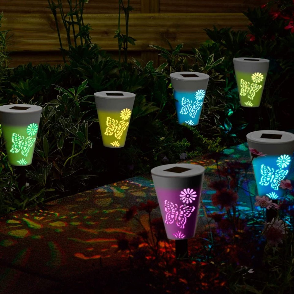 Solar Silhouette Butterfly Stake Lights (6 pack)