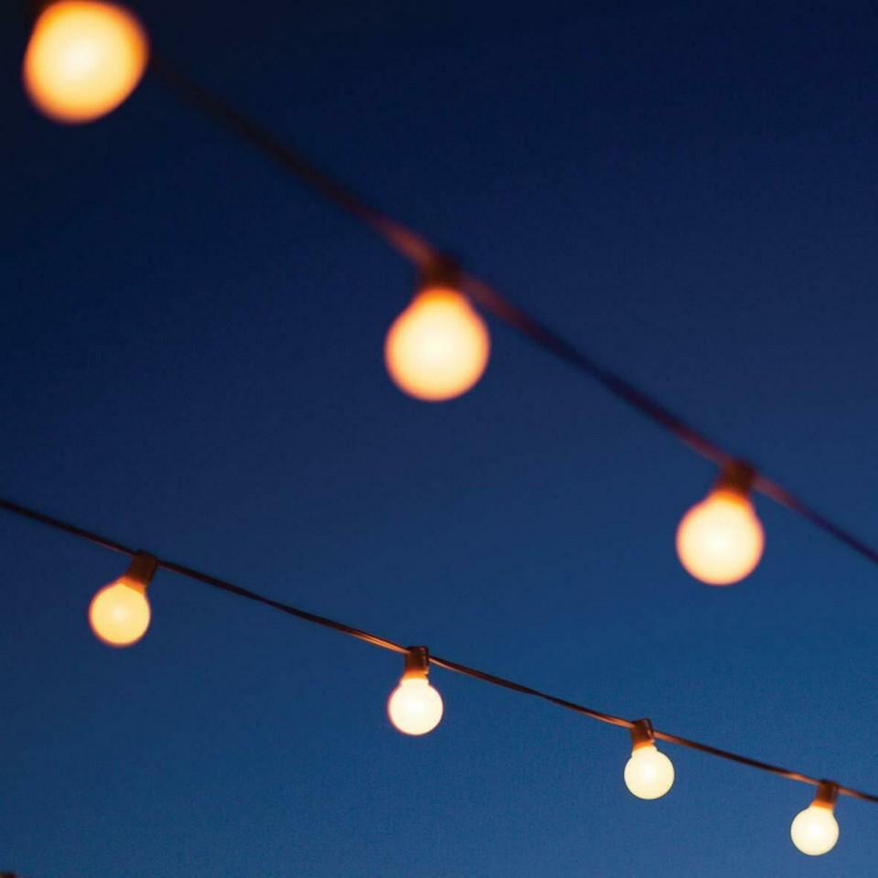 10 LED Warm White Solar Party Lights