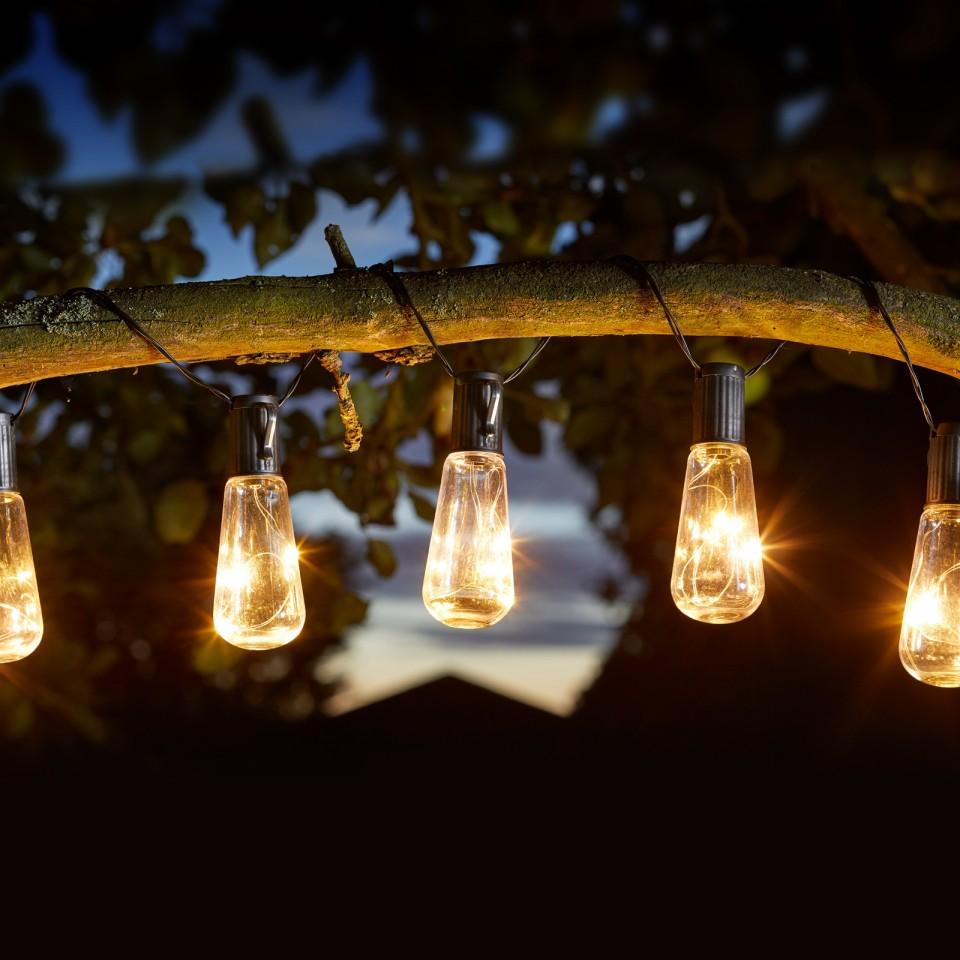 Solar Eureka Vintage Bulb Fairy Lights