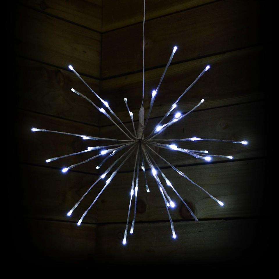 45cm White Sparkle Ball Light