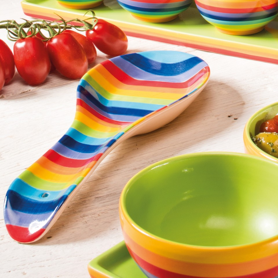 Rainbow Ceramics Spoon Rest