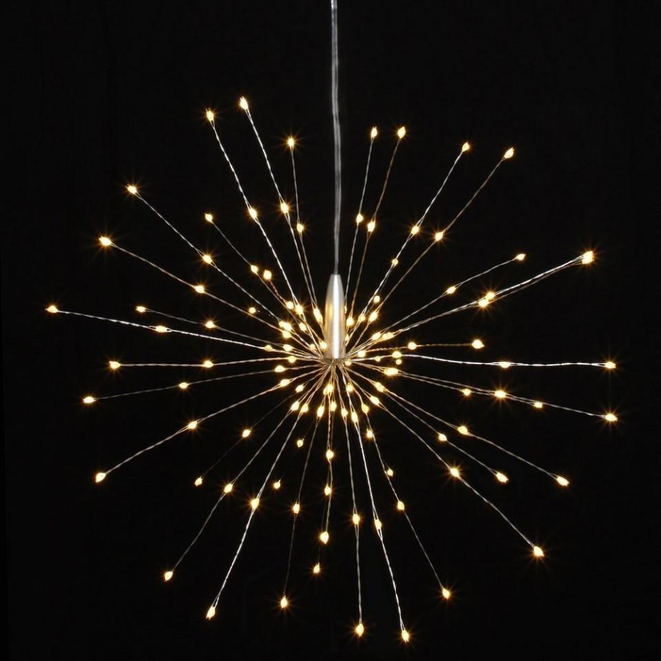 Starburst Silver LED Light