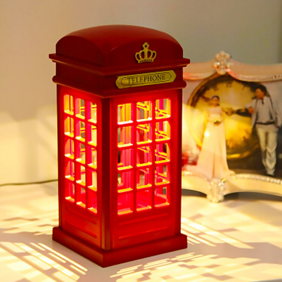 Retro Telephone Box Light