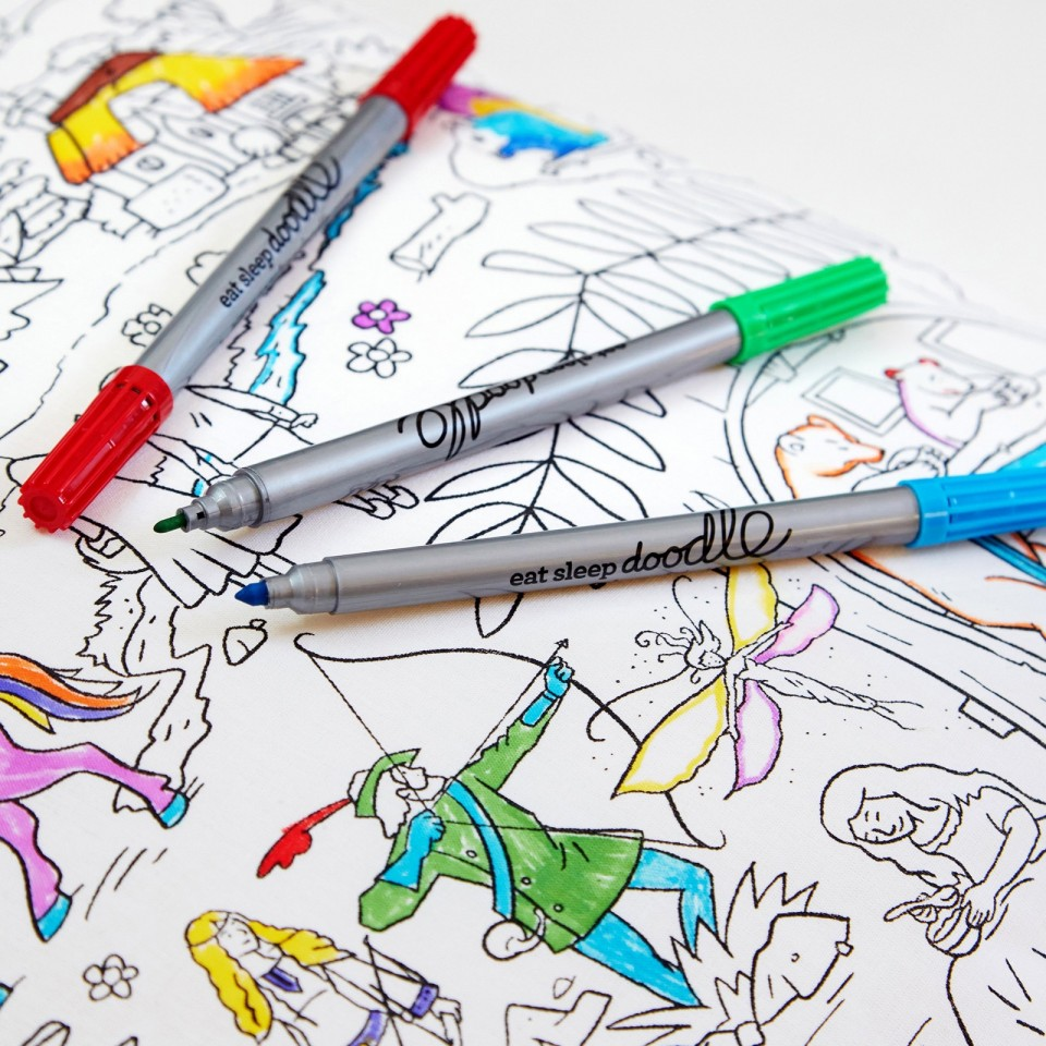 The Doodle Wash Out Fabric Pen Set - Original