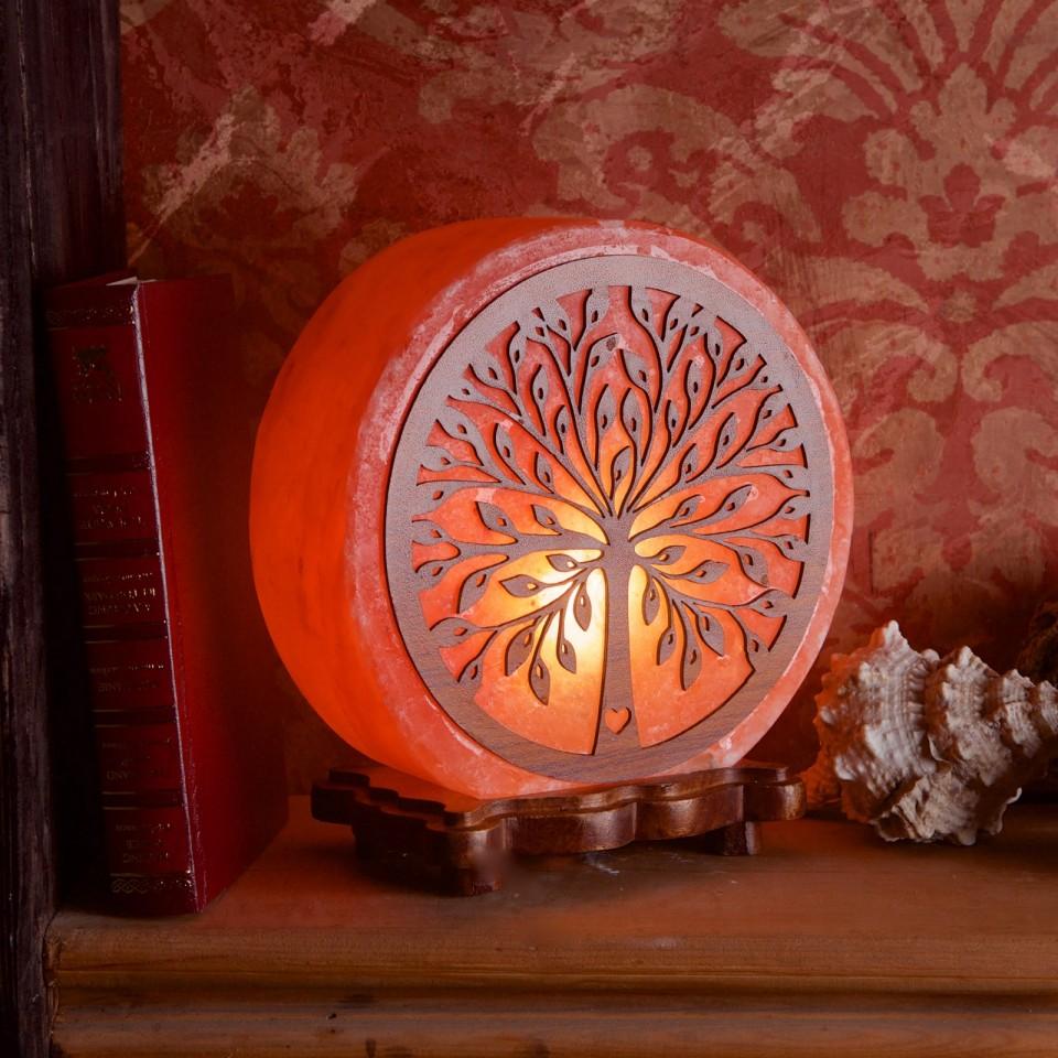 Wooden Tree Salt Lamp