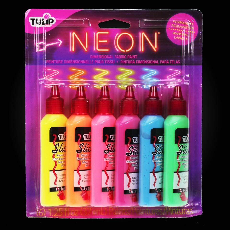 Tulip Neon Fabric Paint Set (6 Pack)