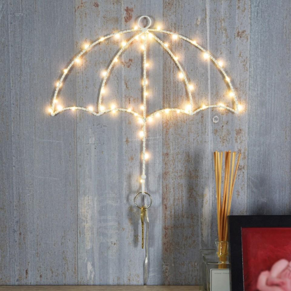 White LED Umbrella Key Holder