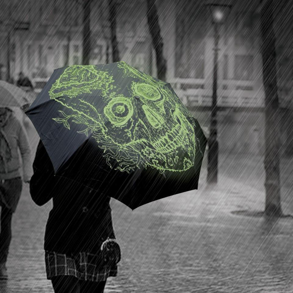 Glow Skull Umbrella