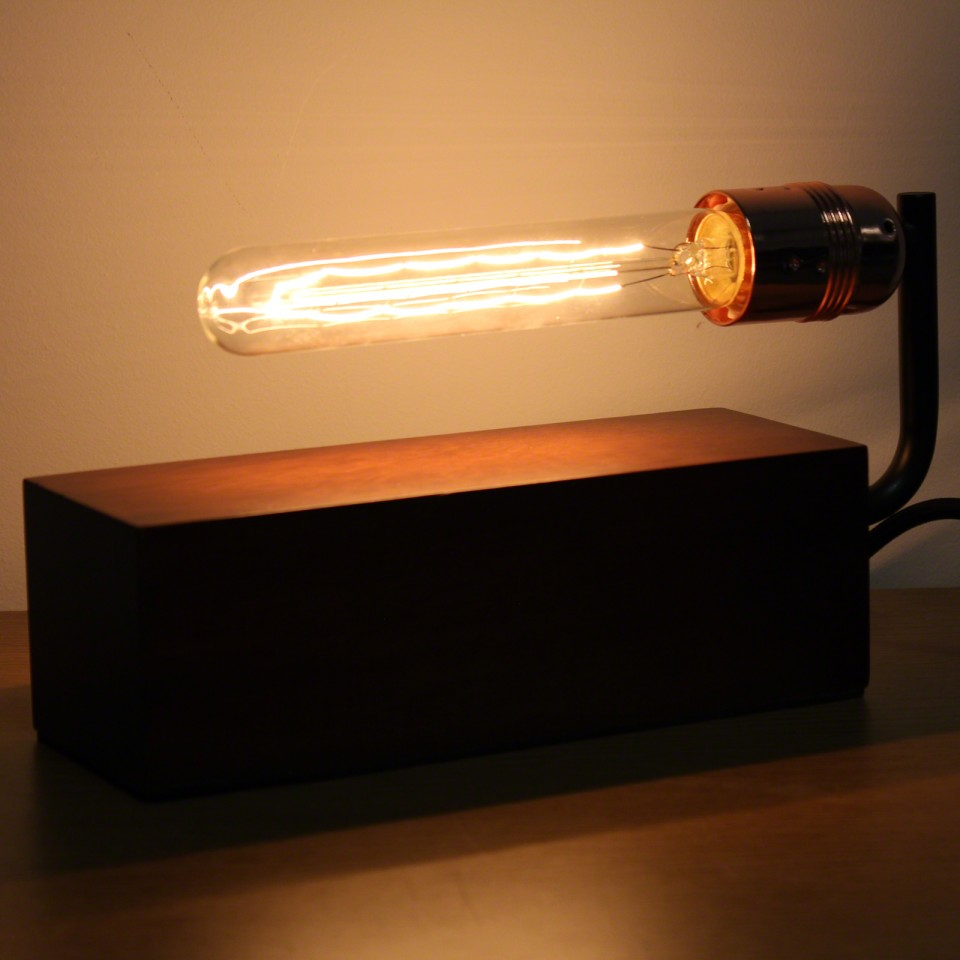 Wooden Block with Vintage Tube Bulb (sold separately)  Vintage Wooden Block Table Light