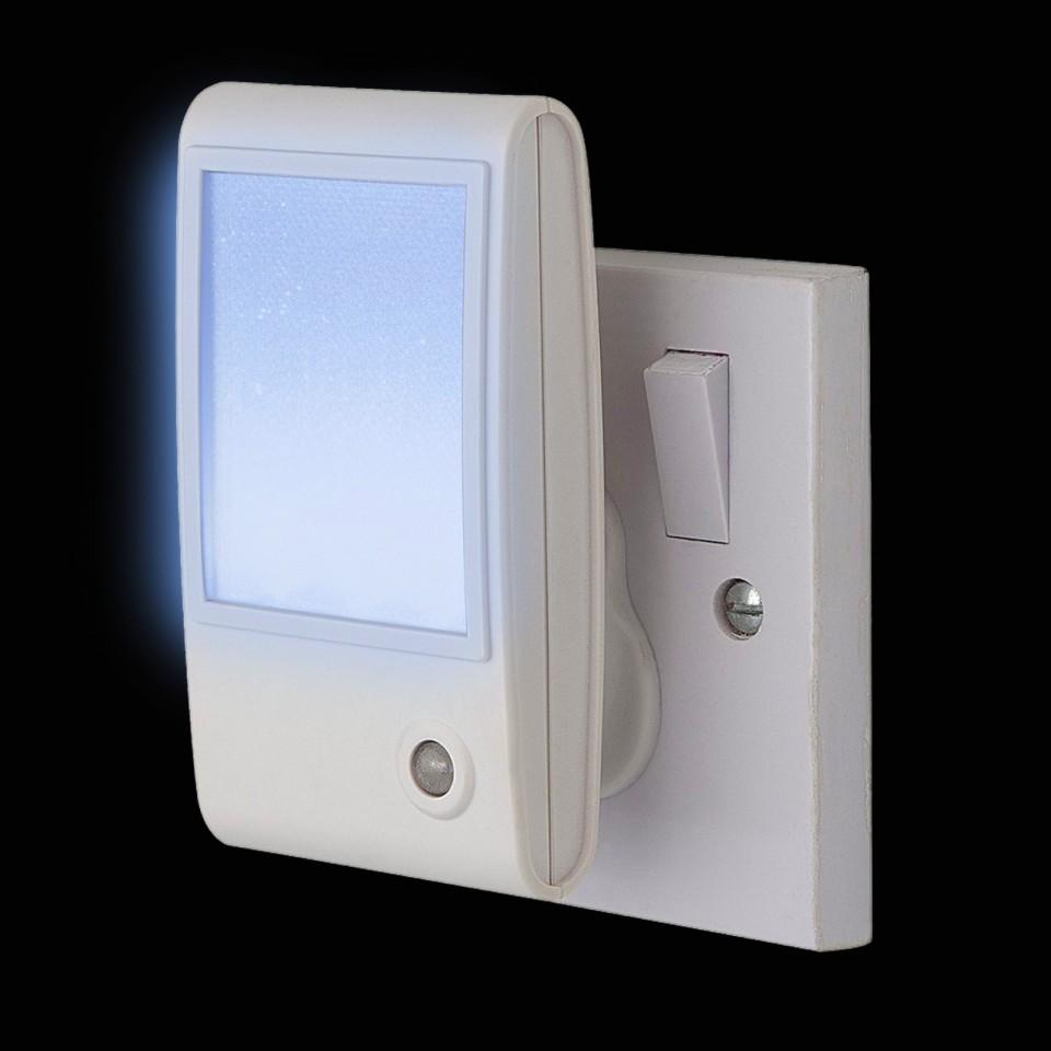 White Sparkle LED Sensor Night Light