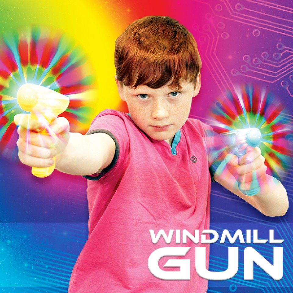 Light Up Windmill Gun