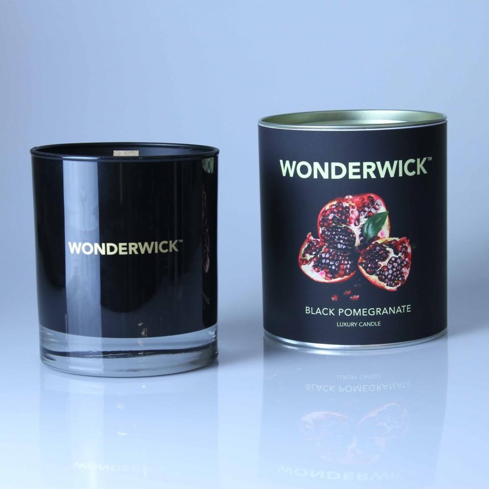 Wonderwick Black Pomegranate Noir Glass Candle