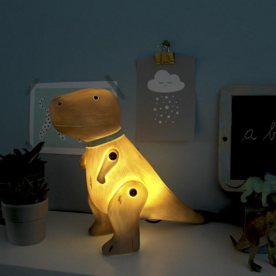 Wood Effect T-Rex Lamp