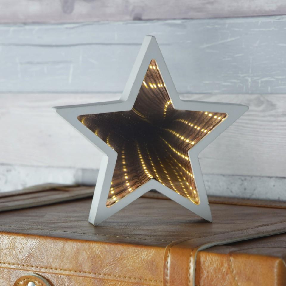 Wooden Star Infinity Mirror
