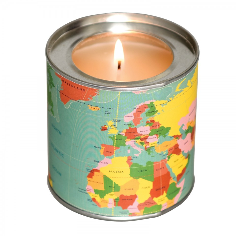 World Map Musk Scented Candle