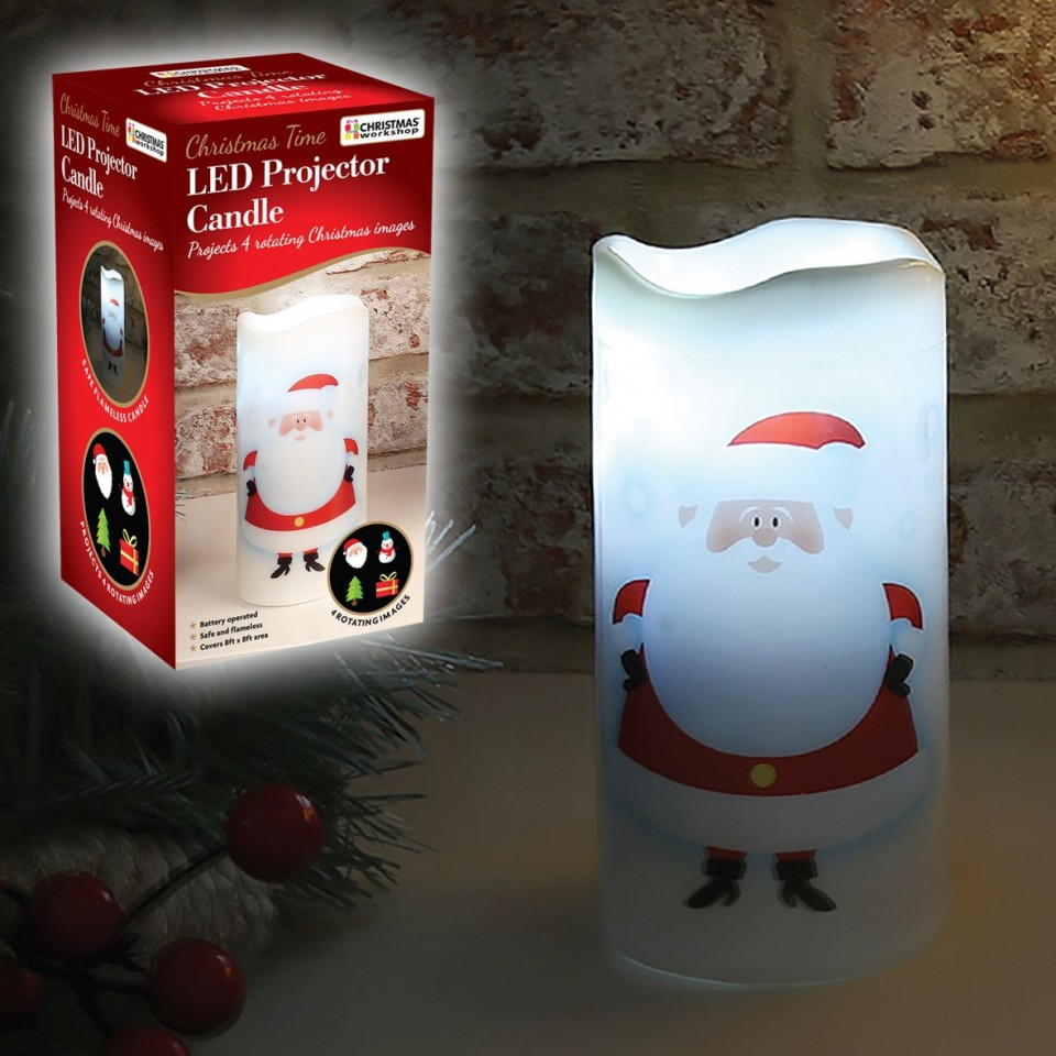 Christmas Led Projector Candle