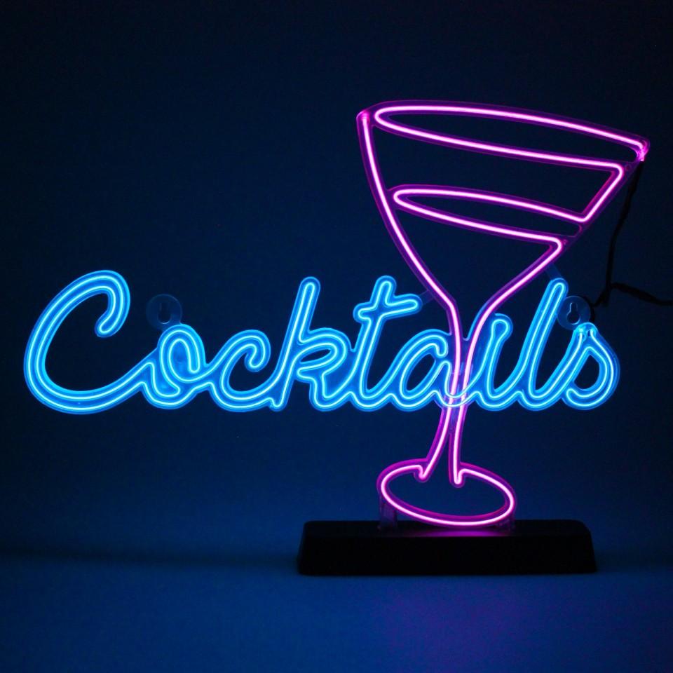 Cocktail Retro Neon Effect Light