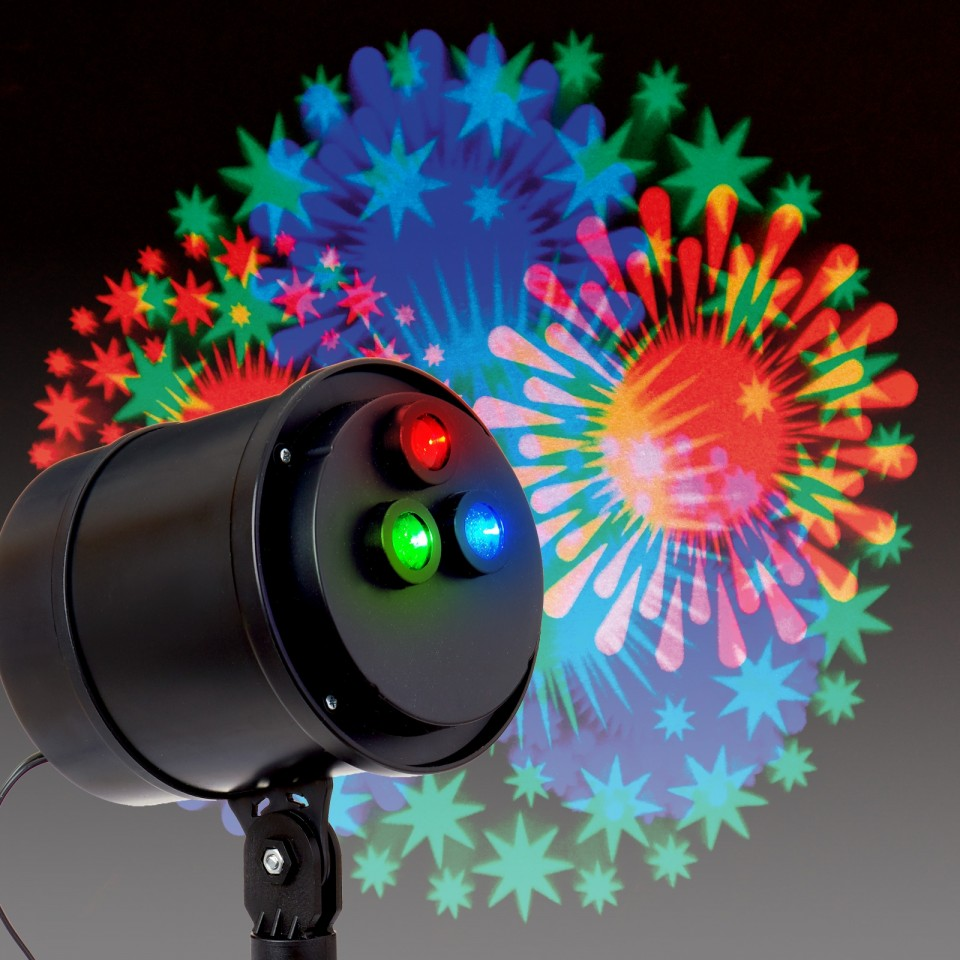 Animated Firework Projector For Home And Garden