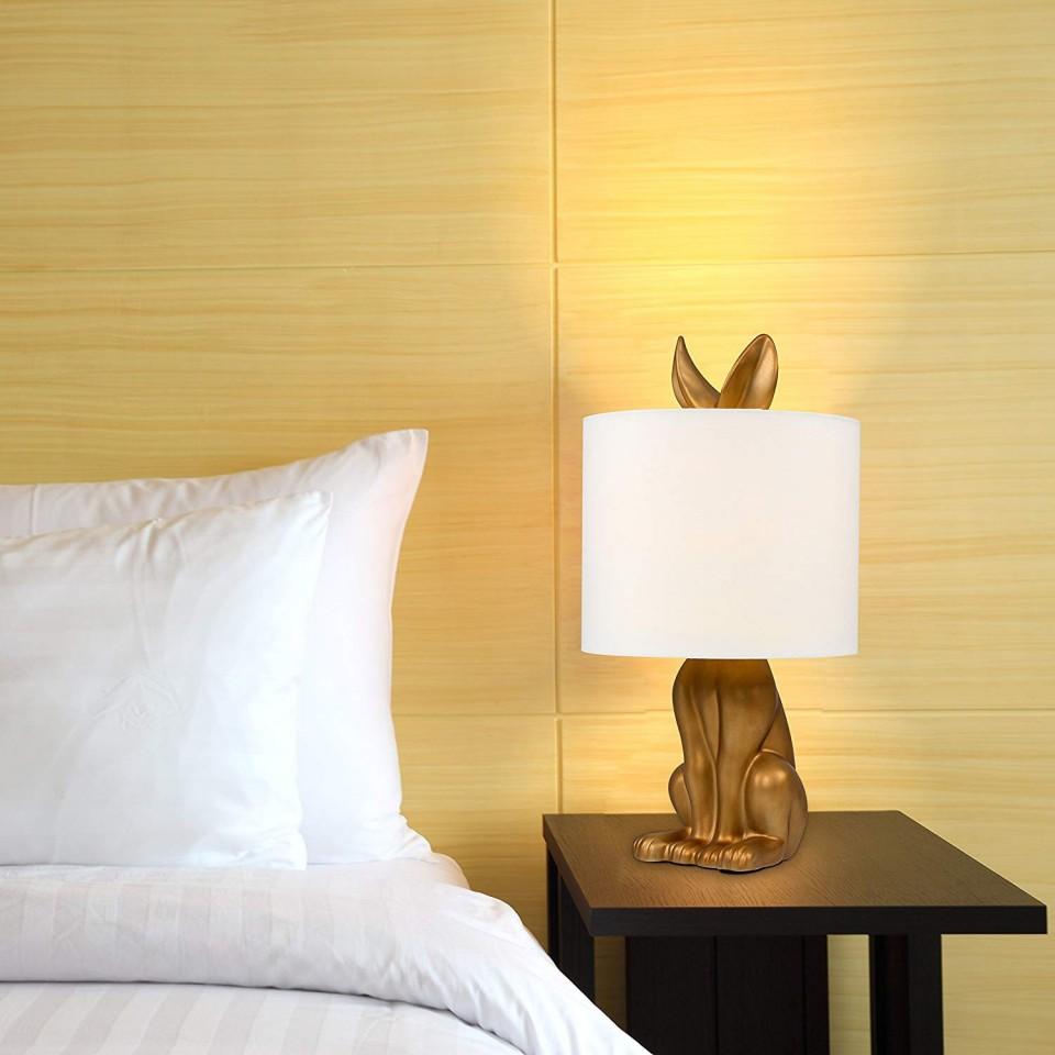 Lepus Matte Gold Ceramic Hare Table