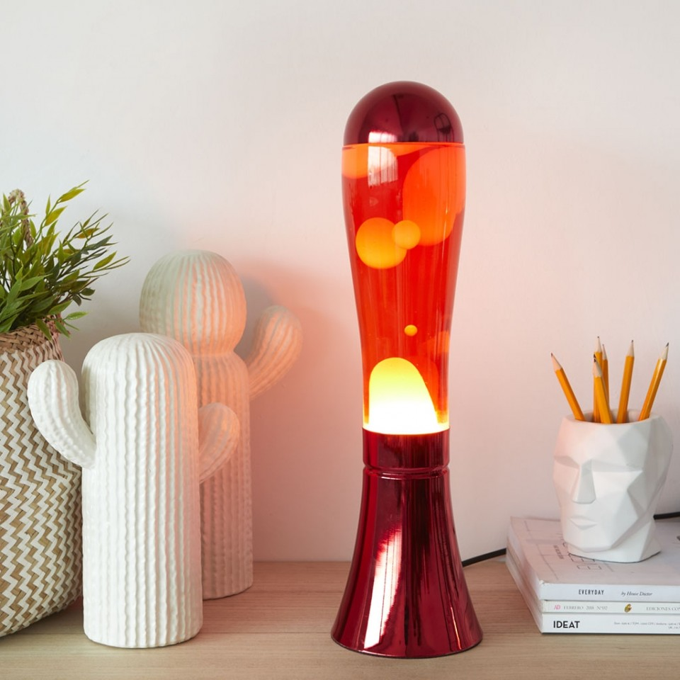 Magma Lava Lamp Red By Balvi