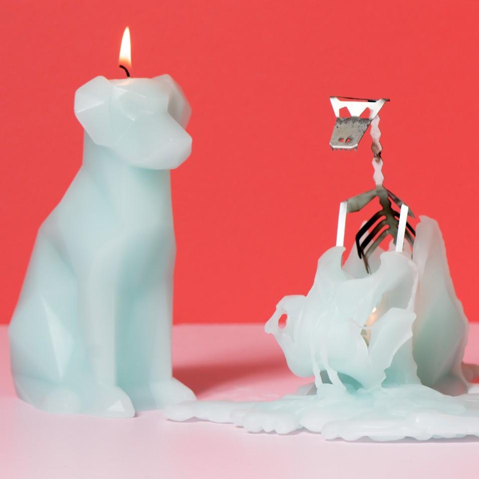 Pyro Pets Voffi Dog Skeleton Candle