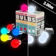 10 LED Battery Operated String of Light Bulbs