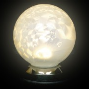 10cm White Glass Ball Light