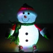 "13"" Sitting LED Snowman"