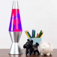 "14.5"" LAVA Brand Lava Lamp Pink/Purple"