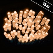15m Star Cap String Lights Warm White