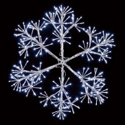 60cm Silver Starburst Snowflake Decoration