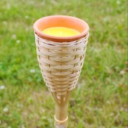 70cm Bamboo Torch with Citronella Candle