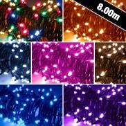 80 LED Battery Timer Lights