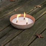 Aged Terracotta Large Candle Bowl (AT23)