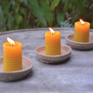 Beeswax Candles (3 Pack)