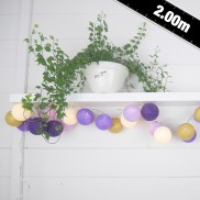Cable & Cotton Purple Nights Fairy Lights 20 LED