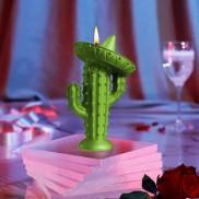Cactus Sombrero Candle Green