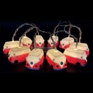 Red Camper Van String Lights