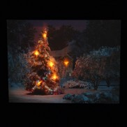Christmas Tree LED Canvas