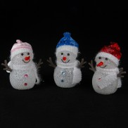 Colour Change LED Snowmen (3 Pack)