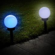 Solar Colour Change Globe Stake Light