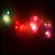 Coloured Glass Hanging Balloon Light