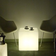 Merveilleux Cube Lit Side Table