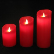 Dancing Flame Candles Red