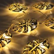 Gold Palm Leaf String Lights
