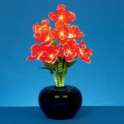 Fibre Optic Red Begonia Flowers 40cm
