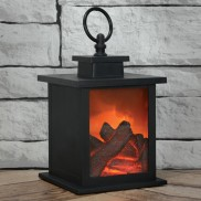 Fireplace Lantern with Timer