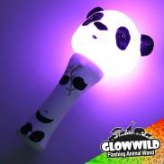 "Panda Mini Flashing Animal Wand 7"""